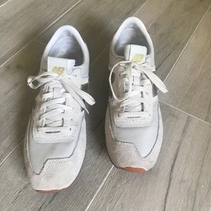 New Balance JCrew White/Gold Sneaker Size 9